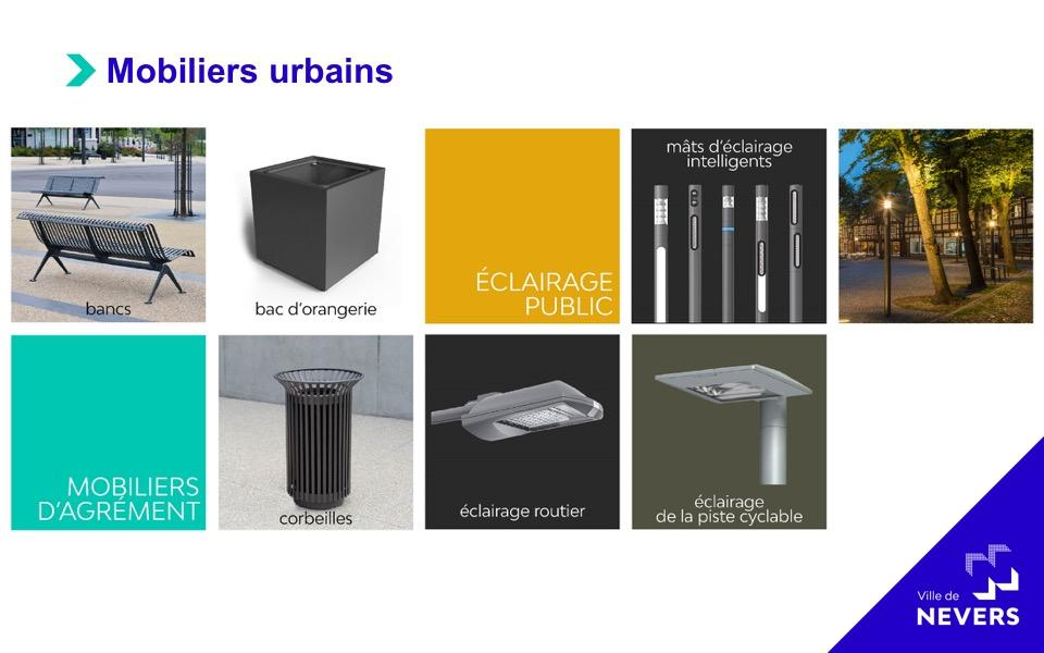 Mobiliers urbains